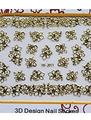 Nejnovějším zlatý kov umění nehtů manikúra nálepky dekorace na nehty špičkou DIY