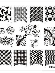 1ks elegantní design nail art obraz razítko lisování desek manikúra šablony XJ8