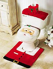 3 kom Božić kupaonica pribor, 1kom 1kom WC sjedalo WC držač papira 1kom kupatilo mat