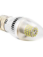 daiwl E27 5w 60xsmd 3014 350lm 5500-6500k chladné bílé světlo LED Svíčka žárovky shapec (AC 85-265v)