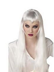 長い髪の女性のかつら銀白小悪魔美しい少女をマスカレード