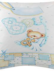3かわいい赤ちゃんクマのパターンのベルベットの装飾的な枕カバーのセット