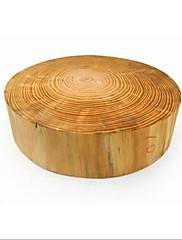 円形松木材チョッピングブロック、木材37×37×10センチ(14.6×14.6×4.0インチ)