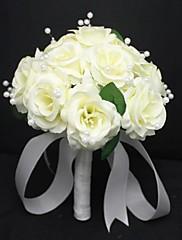perla elegante de satén rosa bonita boda ramos de novia