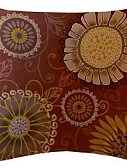 veliki crveni okrugli Daisy baršun dekorativne jastučnicu