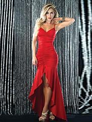 obell®女性のシンプルセクシーなファッションプリーツフィッシュテールシースパーティードレス