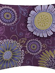veliki ljubičasti okrugli Daisy baršun dekorativne jastučnicu