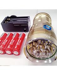 Sky Ray LED svjetiljke LED 9600lm Lumena 3 Način Cree XM-L T6 18650 Vodootporno / Može se puniti / Night VisionKampiranje / planinarenje