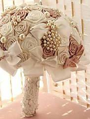 lujo de la boda diamantes de imitación perla ramos estilo accesorios ramos de novia de la boda europeo flor rosa