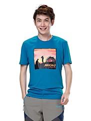 男性用 - 高通気性/速乾性 - キャンピング&ハイキング/フィットネス/レーシング/レジャースポーツ - トップス/Tシャツ ( ブルー/ダークブルー/オレンジ ) - 半袖