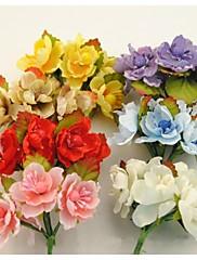 72branches, umělé tkaniny malé růže s listy, hedvábí třešňový květ kytice, kutilství dekorace Garland doplňky
