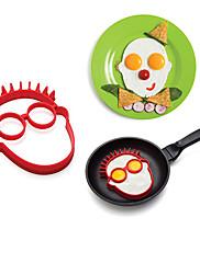 karikatura charater je tvar hlavy vejce kroužek pro snídani, vejce forma vaření nástroje, silikonu, l14cm × w12.5cm × h1.8cm