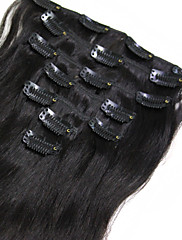 1 rok záruka na plný konec remy lidské vlasy klip na prodlužování vlasů 110 g 7ks / set # 1b # 2 # 4 # 6 Brazilian kusy vlasů