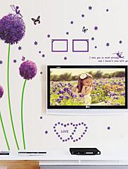 samolepky na zeď lepicí obrazy na stěnu ve stylu fialové pampeliška PVC samolepky na zeď
