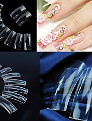 500 profesionálních průhledné korejské normy polovina dobře falešné akrylové tipy nail art (50pcsx10 velikosti smíšené)