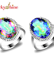 Prsteny s kamenem Topaz Módní Klasický Červená Modrá Šperky Párty 1ks