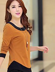 WOMEN - セクシー / ボディコン - Tシャツ ( コットンブレンド ラウンド - 長袖