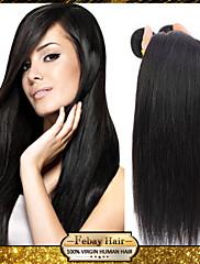 Lidské vlasy Vazby Brazilské vlasy Proste 3 kusy Vazby na vlasy