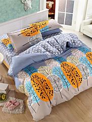mingjie® soumrak žlutý královna a dvojče velikosti broušení ložní soupravy 4ks pro chlapce a dívky ložní prádlo porcelánu