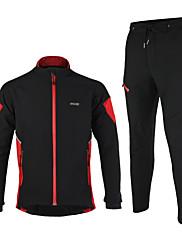 Arsuxeo® Biciklistička jakna s hlačama Muškarci Dugi rukav BiciklUgrijati / Vjetronepropusnost / Anatomski dizajn / Vodootporni patent /