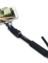 スマートフォンの電話ホルダーとsinnfoto S8アルミ脚伸縮可能自撮り棒