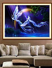 5d Phoenix letět společně s diamanty malířskou figurální malba na obývací pokoj vybavený kámen diamantový steh