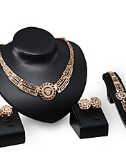 Šperky Náhrdelníky / Küpeler / Prstýnky / Náramek Svatební / Párty / Denní / Ležérní Slitina 1Nastavte Zlatá Svatební dary