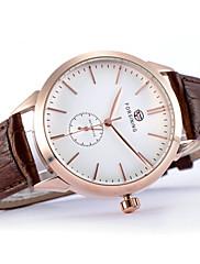 Pánské Náramkové hodinky mechanické hodinky Automatické natahování Kůže Kapela Černá Hnědá Značka