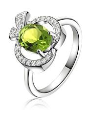 Prstýnky Svatební / Párty / Denní / Ležérní Šperky Postříbřené Dámské Prsteny s kamenem 1ks,8 Stříbrná