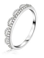 指輪 結婚式 / パーティー / 日常 / カジュアル ジュエリー 銀メッキ 女性 ステートメントリング 1個,7 / 8 シルバー