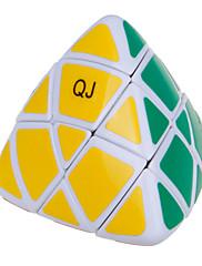 Qiji® スムーズなスピードキューブ ピラモルフィックス スピード マジックキューブ 黒フェード / アイボリー プラスチック