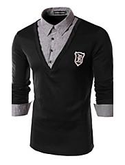 Pánské Polyester Denní nošení / Pracovní Jednobarevné Polo Dlouhý rukáv