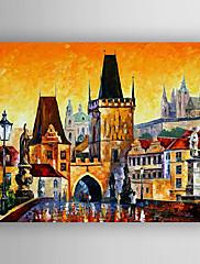 手描きの 風景 / 抽象的な風景画Modern 1枚 キャンバス ハング塗装油絵 For ホームデコレーション