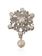 女性 真珠 人造真珠 ラインストーン 模造ダイヤモンド 合金 ファッション ジュエリー 結婚式 パーティー