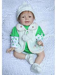 npkdoll生まれ変わった赤ちゃん人形柔らかいシリコーン22inchの55センチメートル磁気口緑美しいリアルなかわいいおもちゃ笑顔王女の女の子のおもちゃ