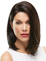 European Women dáma středního délka hnědé barvy umělých vlasů