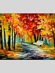 手描きの 抽象的な風景画欧風 / Modern / クラシック / リアリズム / 田園 1枚 キャンバス ハング塗装油絵 For ホームデコレーション