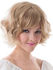 Evropa a Spojené státy chemických vláken paruka blond fleeciness zvlněná žena paruka čepice