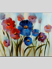 手描きの 花柄/植物のModern / クラシック / トラディショナル / 欧風 1枚 キャンバス ハング塗装油絵 For ホームデコレーション