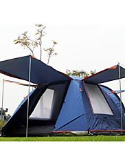 CAMEL 3-4人 テント ダブル 自動テント 1つのルーム キャンプテント 抗紫外線 防雨 抗虫ダークブルー オレンジ