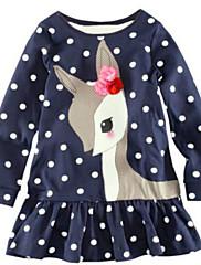 Vestido Chica deAlgodón-Invierno-Azul