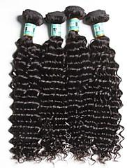 人間の髪編む ブラジリアンヘア ウェーブ 18ヶ月 4個 ヘア織り