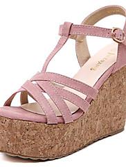 Ženske cipele-Sandale-Aktivnosti u prirodi / Ležerne prilike-Flis-Puna potpetica-Pune pete / Štikle-Crna / Ružičasta