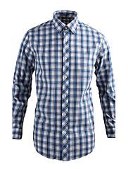 JamesEarl 男性 シャツカラー ロング シャツ&ブラウス シアン - MB1XC000905