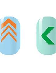Narančasto / zelena šuplja naljepnice za nokte
