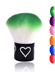 nové barevné nehty nástroje štětec pro akrylové& uv gel nail art prachu čistič na nehty prachové kartáče (random barva)