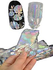 1ks 100 * 4cm transparentní laserové nail art třpytky samolepky kutilství krásná květina geometrické obrázek hřebík krása lt05-08