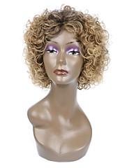 女性のための自然な短いマルチカラー人気のカーリー合成かつら
