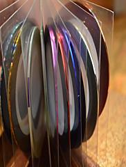 1pcs 1mm 20m noktiju alati art pruga vrpca linija naljepnica nail art ljepota ukras nc124 slučajni isporuke