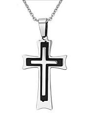 Pánské Náhrdelníky s přívěšky Přívěšky Cross Shape Titanová ocel Haç Černá Modrá Šperky Pro Denní Ležérní 1ks